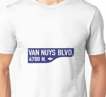 Van Nuys Blvd, Old-Style Street Sign, Los Angeles, California Unisex T-Shirt