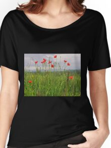 Wild Poppies Women's Relaxed Fit T-Shirt