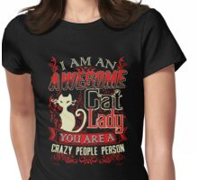 C-A-T LADY Womens Fitted T-Shirt
