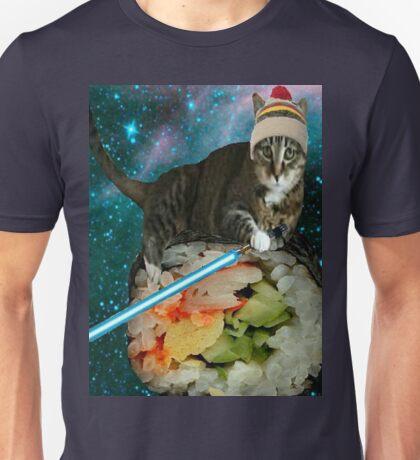 sushi jedi cat Unisex T-Shirt