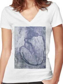 Blue Nude, Pablo Picasso Women's Fitted V-Neck T-Shirt