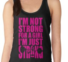 Strong For A Girl Women's Tank Top