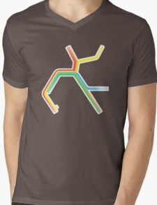 Rainbow BART Map Mens V-Neck T-Shirt