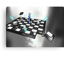 Shattering Chess Canvas Print