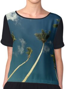 Coconut Trees Chiffon Top