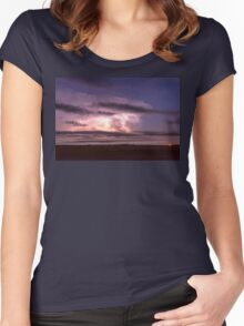 Epic Cloud To Cloud Lightning Storm Women's Fitted Scoop T-Shirt