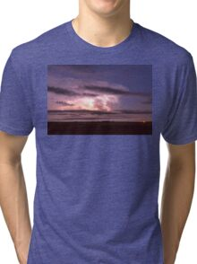 Epic Cloud To Cloud Lightning Storm Tri-blend T-Shirt