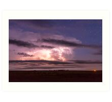 Epic Cloud To Cloud Lightning Storm Art Print