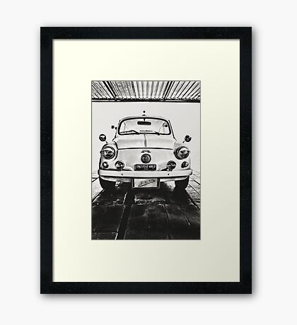 FIAT 600D - 1963 Black and White Framed Print