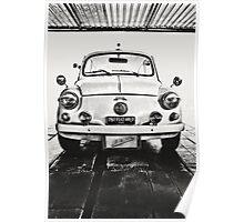 FIAT 600D - 1963 Black and White Poster