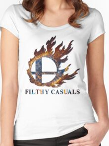 Filthy Casuals Smash Ball Women's Fitted Scoop T-Shirt