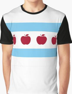 Chicago Teacher Flag - colors OTHER THAN red Graphic T-Shirt