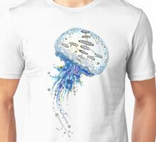 Watercolor and Ink Jellyfish Painting Unisex T-Shirt