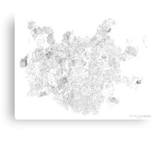 Polymer crystallization, pen and ink on paper Canvas Print