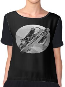 Vintage Race Bike Women's Chiffon Top