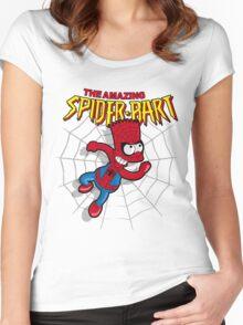 Spiderbart: Bart Simpson as Spider-man Women's Fitted Scoop T-Shirt