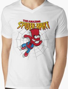 Spiderbart: Bart Simpson as Spider-man Mens V-Neck T-Shirt