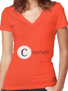 copyright Women's Fitted V-Neck T-Shirt