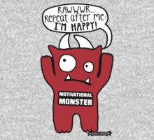 Motivational Monster I'm happy! by Wishllywood ™ Baby Tee