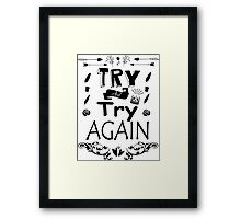 Try Again Framed Print