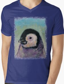 Penguin Chick Mens V-Neck T-Shirt