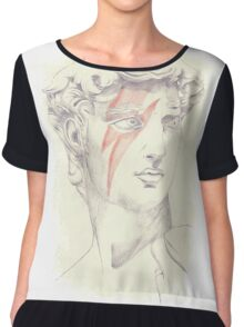 David: Michelangelo and Bowie Chiffon Top