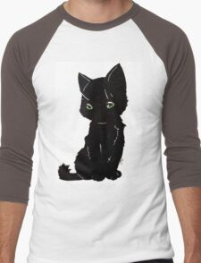 Black Kitten Men's Baseball ¾ T-Shirt