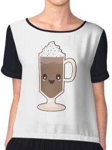 Cute Kawaii Chocolate Milkshake Sundae Chiffon Top