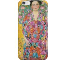 Gustav Klimt  - Portrait of Eugenia Primavesi iPhone Case/Skin