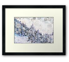 Mountain Snow Drift Framed Print