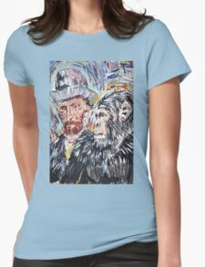 Vincent and the chimp Womens Fitted T-Shirt