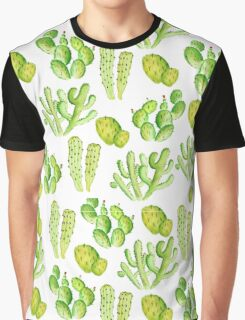 watercolor cactus Graphic T-Shirt