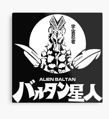 Alien Baltan Ultraman Monster Kaiju Series  Metal Print
