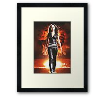 Summer Glau - BADASS WOMEN Framed Print