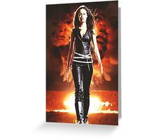 Summer Glau - BADASS WOMEN Greeting Card