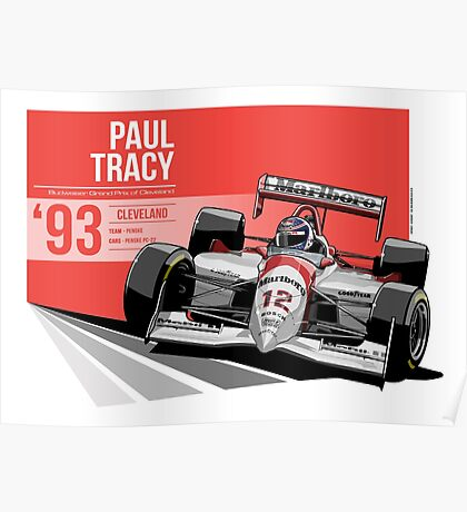 Paul Tracy - 1993 Cleveland Poster