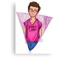 Hipster!Mulder Canvas Print