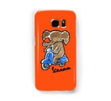 Vespa Riding Elephant Samsung Galaxy Case/Skin