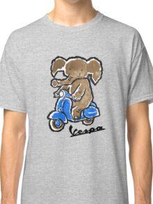 Vespa Riding Elephant Classic T-Shirt