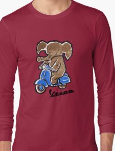 Vespa Riding Elephant Long Sleeve T-Shirt