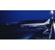 Tupolev Tu-114 Rossiya at night Photographic Print