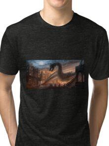 Dragon fight - Elegy of Fire Tri-blend T-Shirt