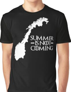 Summer is NOT coming - norway(white text) Graphic T-Shirt