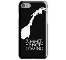 Summer is NOT coming - norway(white text) iPhone Case/Skin