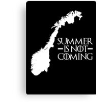 Summer is NOT coming - norway(white text) Canvas Print