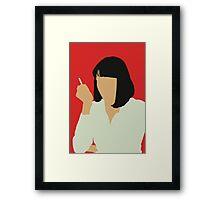Uma Thurman- Pulp Fiction Framed Print