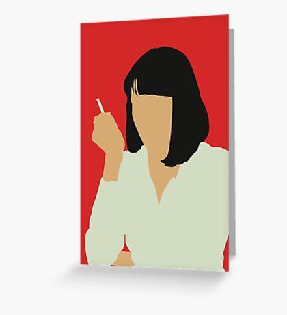 Uma Thurman- Pulp Fiction Greeting Card