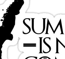 Summer is NOT coming - norway(black text) Sticker