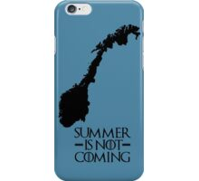Summer is NOT coming - norway(black text) iPhone Case/Skin