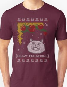 Christmas Shirt Ugly Cat Sweater T Meowy Funny Xmas Mens Gift Tee Holiday Kitten Long Sleeve Butt Lover Party Cute T-Shirt